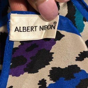 Albert Nipon Accessories - ALBERT NIPON Silk Multi color 1/2 Scarf